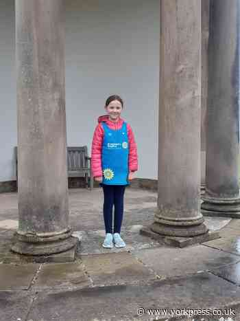 Young girl takes on walking challenge to support St Leonard's - York Press