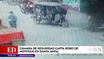 Santa Anita: Cámara de seguridad captó robo de mototaxi - América Televisión