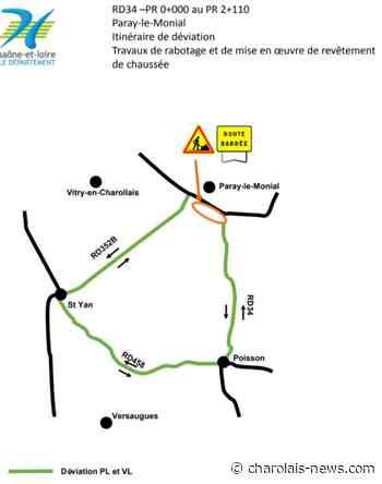 RD34 - Commune de Paray-le-Monial - Charolais News - Charolais News