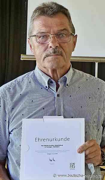 """Lob für den """"unaufhaltsamen Macher"""" - Teningen - Badische Zeitung - Badische Zeitung"""