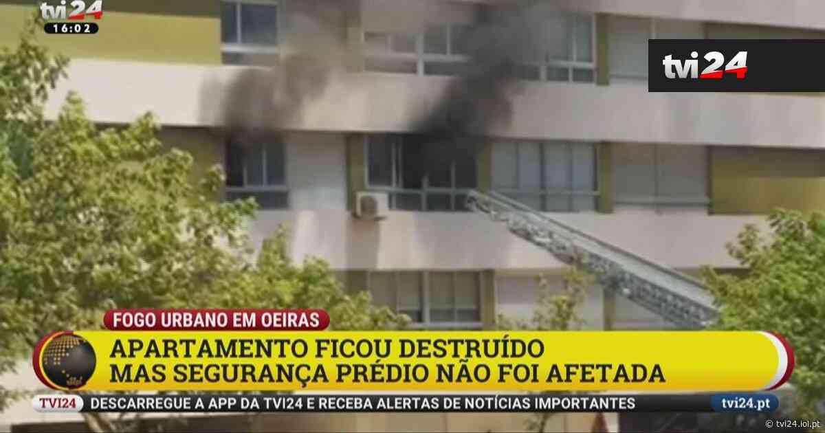 """Incêndio """"assustador"""" em Oeiras fere dois bombeiros - TVI24"""