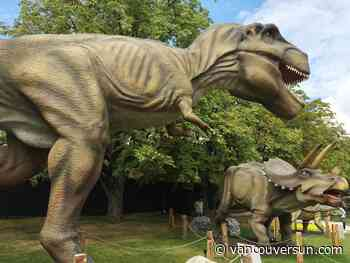Travelling animatronic dinosaur exhibit going under the hammer in Langley next month