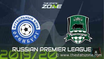 2019-20 Russian Premier League – Orenburg vs Krasnodar Preview & Prediction - The Stats Zone