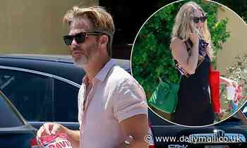 Chris Pine cuts a casual figure as he steps out with chic girlfriend Annabelle Wallis in LA