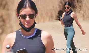Lucy Hale shows off toned bod in athleisure chic look as she goes for hike in LA during quarantine