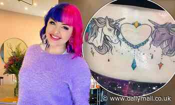 Australian 90 Day Fiancé star Erika Owens proudly debuts a huge rainbow unicorn tattoo on her torso