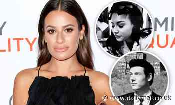 Lea Michele pays tribute to her Glee costars Naya Rivera and Cory Monteith