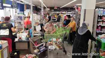 La ruée au magasin Carrefour Contact de Romilly-sur-Seine - L'Est Eclair