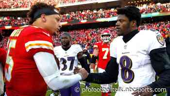"""Lamar Jackson on Patrick Mahomes: """"I've got to get where he's at"""""""