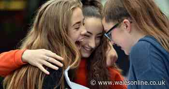What will happen on GCSE and A-level exam results days in Wales?