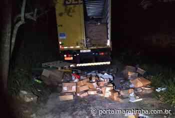 PM recupera caminhão dos Correios roubado em Mimoso do Sul - Portal Maratimba
