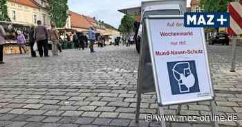 Auf dem Wochenmarkt in Teltow-Fläming gilt doch keine Maskenpflicht - Märkische Allgemeine Zeitung