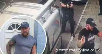 Moment armed police turn up at family's house is captured on camera