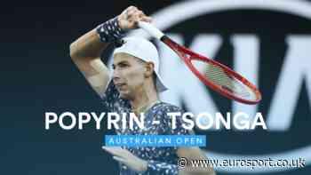 Australian Open 2020 highlights: Jo-Wilfried Tsonga retires hurt as Alexei Popyrin advances - Eurosport.co.uk