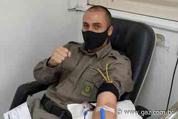 Policiais militares doam sangue em Cachoeira do Sul - GAZ