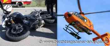 Berchtesgaden: Motorradfahrerin bei Unfall auf Alpenstraße (B305) schwer verletzt – Heli im Einsatz - Berchtesgadener Anzeiger