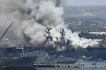18 injured after explosion and fire on US navy ship - Barrhead News
