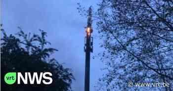 Zendmast in Watermaal-Bosvoorde brandt uit, brandstichting niet uitgesloten - VRT NWS