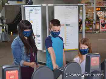 Say it, don't spray it on SkyTrain with new TransLink masks, available now