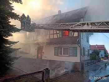Zwei Verletzte bei Brand in Lichtenau – 100 Feuerwehrleute im Einsatz - BNN - Badische Neueste Nachrichten