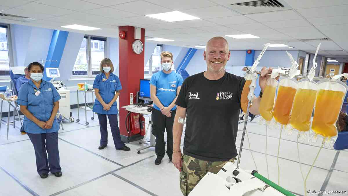 Ex-serviceman tops plasma donor chart after recovering from Covid-19