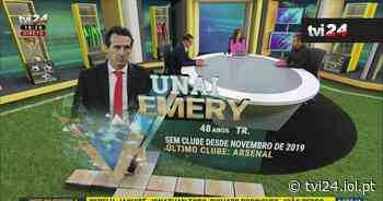 """Benfica: Unai Emery é """"plano B"""" de Vieira - TVI24"""