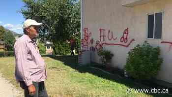 Summerland, B.C., family shocked and scared after swastika painted on their house