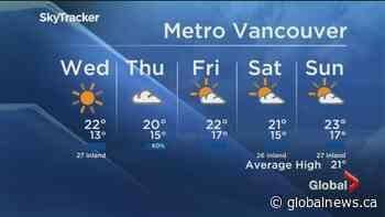 B.C. evening weather forecast:July 14