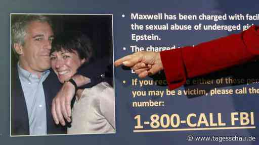 Epsteins Ex-Partnerin Maxwell kommt nicht frei