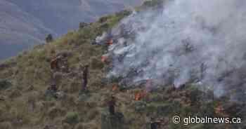 Kamloops wildifire classified as 'being held'