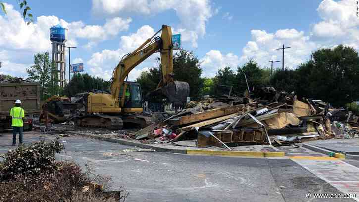 Atlanta Wendy's where Rayshard Brooks was killed has been demolished - CNN