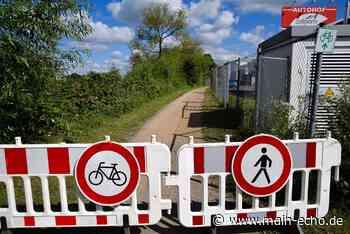 Mainradweg bei Kleinostheim am Wochenende wieder offen? - Main-Echo