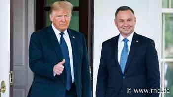 Trump gratuliert Präsident Andrzej Duda zum Wahlsieg: Wichtige Zusammenarbeit fortführen - RND