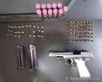Desde Tlaxcala: Grupo Antiasalto detiene en Tlaxco a una persona con arma de fuego - DesdePuebla