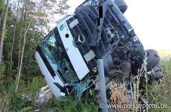 POL-PDKL: A6/Ramstein-Miesenbach, Auf Pannenfahrzeug gekracht - Lkw-Fahrer schwerverletzt - Presseportal.de