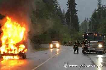 Qualicum Beach van blaze quickly extinguished by fire crews - Parksville Qualicum Beach News
