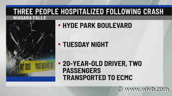 3 hospitalized after car crashes into tree on Hyde Park Blvd.