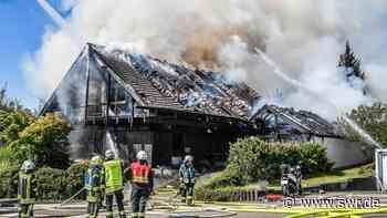 Feuer in Lorch mit 500.000 Euro Schaden: Wohnhaus und Garage ausgebrannt | Ulm | SWR Aktuell Baden-Württemberg | SWR Aktuell - SWR