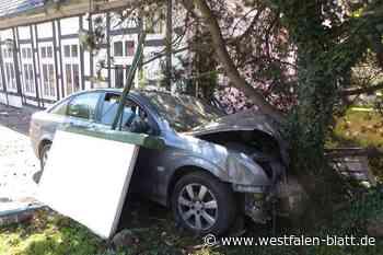 Auto kracht gegen Baum - Westfalen-Blatt