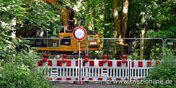 """Kleinmachnow: """"Allee am Forstweg"""" bis Ende September voll gesperrt - Märkische Allgemeine Zeitung"""