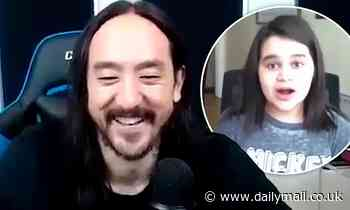 DJ Steve Aoki surprises a 12-year-old fan with a brand new DJ set in heartwarming Zoom call - Daily Mail