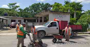 Realizan mantenimiento del Malecón Rafael E. Melgar de Cozumel - Cancún Mio
