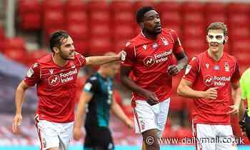 Nottingham Forest 2-2 Swansea: Sammy Ameobi double deals 10-man Swans play-off blow