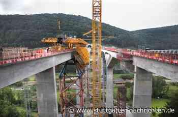 Neubaustrecke Wendlingen-Ulm - Bahn sieht sich bei Brückenbau auf Kurs - Stuttgarter Nachrichten