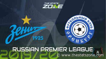 2019-20 Russian Premier League – Zenit vs Orenburg Preview & Prediction - The Stats Zone