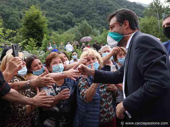 Gardone Val Trompia, Matteo Salvini in visita alla fabbrica d'armi Beretta - Caccia Passione