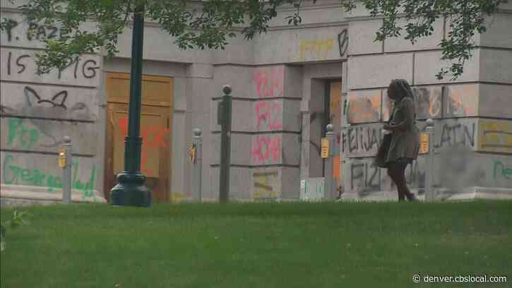 State Capitol Continues To Be Tagged & Trashed: 'It's Not Only A Disgrace, It's Embarrassing'