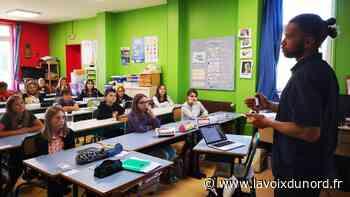 Wimereux: l'auteur Cédric Harlé a rencontré les élèves de l'école Jeanne-d'Arc - La Voix du Nord