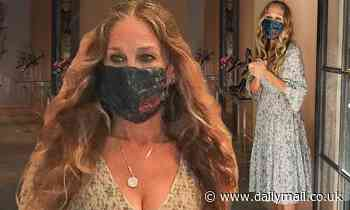 Sarah Jessica Parker, 55, shops in floral dress and face mask - Daily Mail