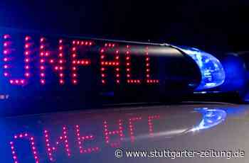 Fahrerflucht bei Gerlingen - BMW in Leitplanke abgedrängt - Stuttgarter Zeitung